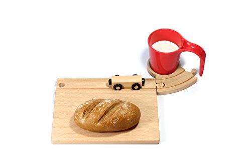 Eisenbahn Frühstücksset für Kinder - Rot