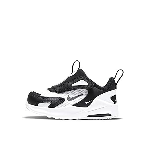 Nike Air Max Bolt (TDE), Chaussure de Marche Garçon Unisex Kinder, White/Black-White, 27 EU