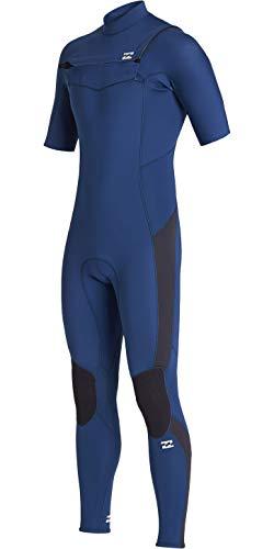 BILLABONG Herren Absolute 2mm Chest Zip Kurzarm GBS Neoprenanzug - Blue Indigo - Herren 2mm Kurzarmfederanzug