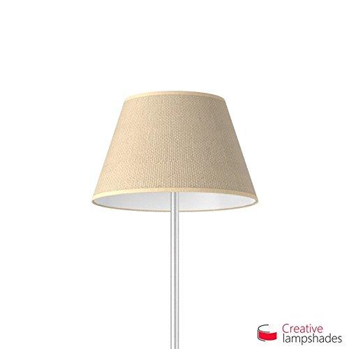 Creative Lampshades Empire Lampenschirm Beigebraun Jute - Durchmesser 55-33cm - H. 31cm, E27 Für Standleuchten, Nein