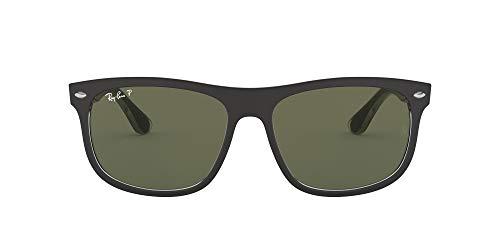 Ray-Ban Unisex RB4226 Sonnenbrille, Schwarz (Gestell: Schwarz, Gläser: Polarized Grün Klassisch 60529A), Large (Herstellergröße: 56)