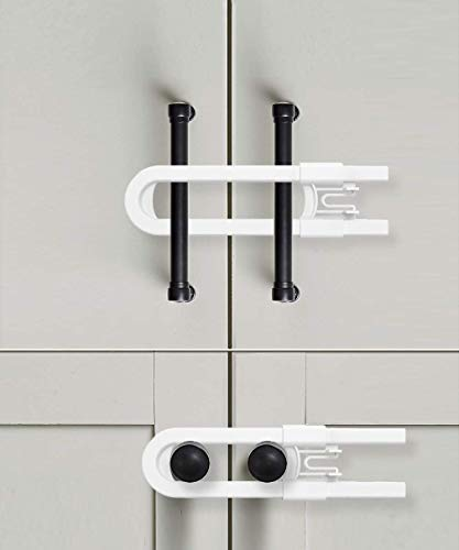 Product Image of the Sliding Cabinet Locks for Child Safety | Baby Proof Your Kitchen, Bathroom, and...