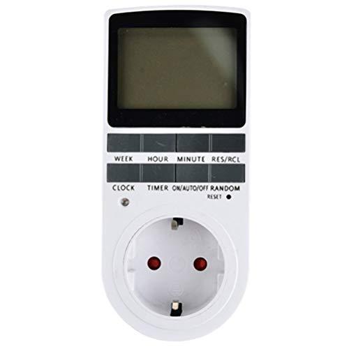 CLFYOU Digitale Elektrische Timer Steckdose Convenient Zeitschaltuhr Steckdose Temperaturregelung Timer Steckdose