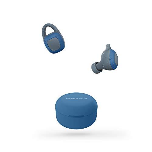 Energy Sistem Earphones Sport 6 True Wireless (Auriculares intrauditivos con tecnología True Wireless Stereo, Bluetooth, Sistema de sujeción Flexible) Azul ✅