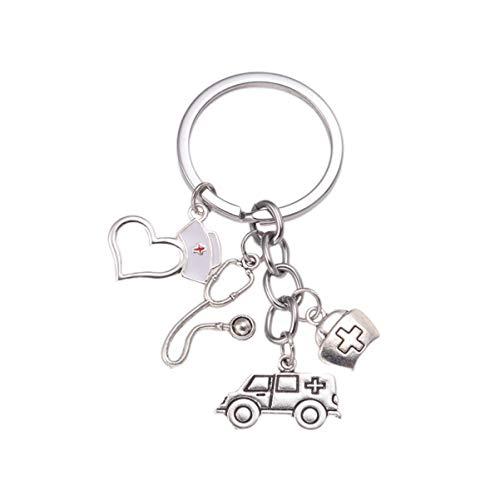 Amosfun - Llavero de metal con diseño de amuleto para regalo de enfermera