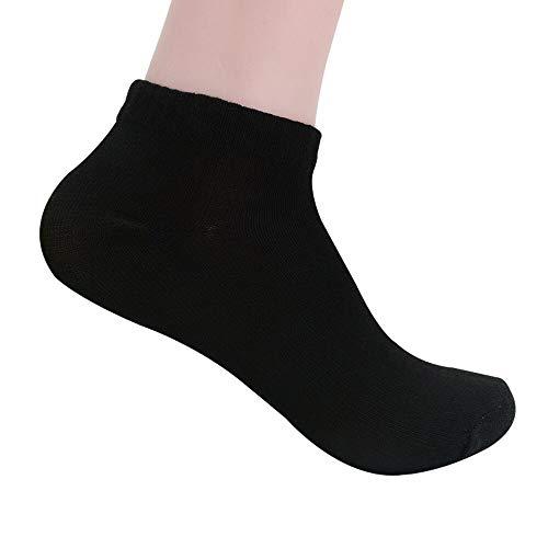 IFOUNDYOU Herren Volltonfarbe Kurze Baumwollsocken Hohe QualitäT MäNner Formal GeschäFt Bootssocken Freizeit Grau Schwarz Und Weiß Socken