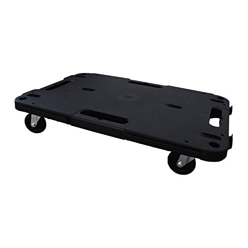 TOOD RB580 1100 Pound Capacity Expandable Platform Furniture Appliance Dolly Cart Flat Hand Truck for Home Improvement, Moving, and Industrial Use, Black