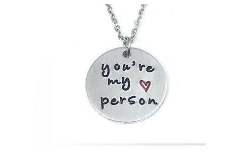 You Are My Person Greys Anatomie Halskette Best friends Halskette Freundschaft Schmuck