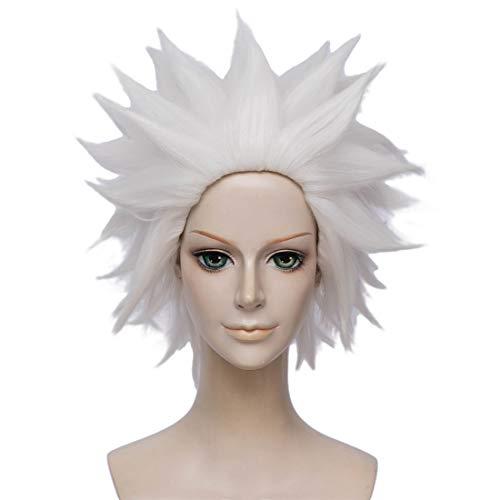Peluca Ursula | FVCENT Anime corto acodado Halloween fiesta Halloween Cosplay peluca (Blanco)
