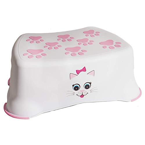 My Little Step Stool - Katze für Kleinkinder, Anti-Rutsch-Oberfläche, Toiletten-Training für Kinder, Ideal um Toilette und Waschbecken zu erreichen