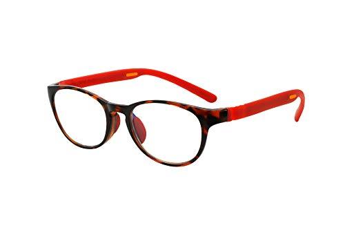 FLOAT READING フロート リーディング (老眼鏡) テンプル(腕)のカラーを選べる グッドデザイン賞受賞のオシャレな老眼鏡 鯖江企画 驚きの掛け心地 首にも掛けれる ブルーライトカット 超軽量 モデル:ウッド (ウッド + レッド, 度数+2.