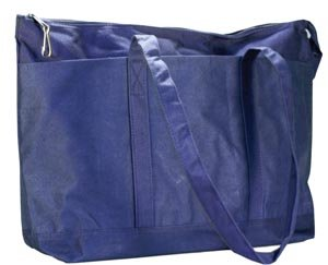 New World Imports PDBB Canvas Diaper Bag, Navy (Pack of 24)