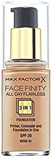 Max Factor Face Finity All Day Flawless 3 in 1 Foundation SPF20 Beige 55