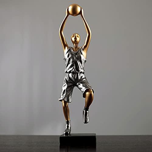 SHHY Escultura De Personaje De Baloncesto Estatua De Resina Moderna Decoración Creativa, Adecuada para Sala De Estar, Armario, Regalo De Cumpleaños (Color : 04)