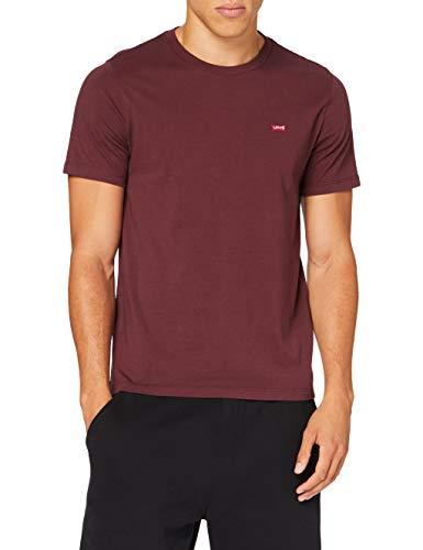 Levi\'s Herren SS Original HM Tee T-Shirt, Weinrot (Sassafras), Large