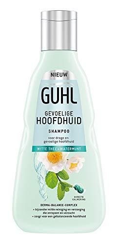 Guhl Gevoelige Hoofdhuid Shampoo - met Witte Thee en Watermunt - voor droge en gevoelige hoofdhuid - 250 ml