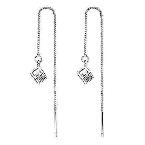 Axiba Ohrringe Liebe Zauberwürfel Quasten Zirkonium Shil Ornamente können ergeht an Freunde Freundinnen voller Länge ca. 10,3 cm Ohrringe Vintage