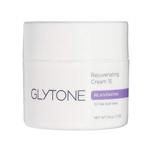 Glytone Rejuvenating Cream with 15 Free Acid Value Glycolic Acid, Moisturizer, Rich Creamy Emollient, Exfoliate, Normal to Dry Skin, 1.7 oz