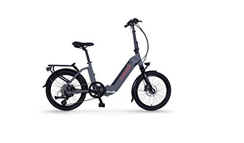 FISCHER E-Bike Klapprad / Faltrad Agilo 2.0 mit Tiefeneinstieg, anthrazit matt, 20 Zoll, Bafang Hinterradmotor 25 Nm, 36V Akku im Rahmen, 7-Gang Schaltung von Shimano