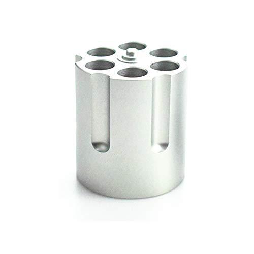 Mayoaoa Creative Pistole Zylinder Stifthalter Revolver Stifthalter Mit 6 Einschusslöchern Kugelschreiber Stifthalter Schwere Rutschfeste Büro