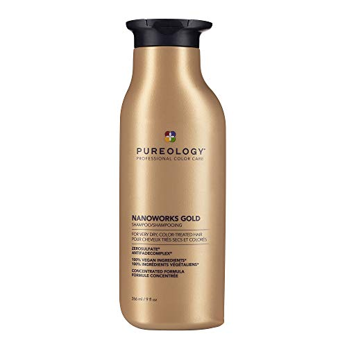 Pureology Nanoworks Gold Shampoo | For Very Dry, Color-Treated Hair | Renews Softness & Shine | Sulfate-Free | Vegan | Updated Packaging | 9 Fl. Oz. |