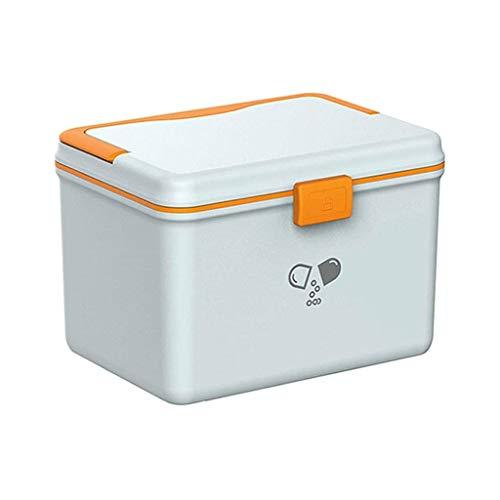 Caja de almacenamiento de medicina de doble capa, con bandeja desmontable, caja de herramientas de almacenamiento multifunción, pastillero portátil de viaje, pequeño