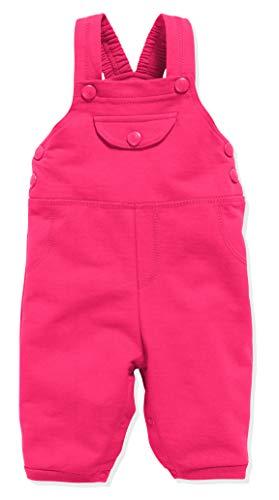 Schnizler Unisex-Baby Sweat-Latzhose Babyhose, Rosa (Pink 18), 86