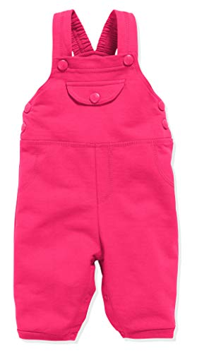 Schnizler Unisex-Baby Sweat-Latzhose Babyhose, Rosa (Pink 18), 74
