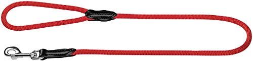 HUNTER Freestyle Führleine für Hunde,Handschlaufe, robust, wetterfest, 1,0/110 cm, rot