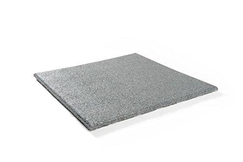 haebelholz Fallschutzmatte Grau
