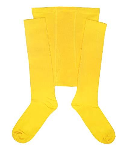 Weri Spezials Herrenstrumpfhose mit Eingriff Glatt in Gelb Gr. 50-52