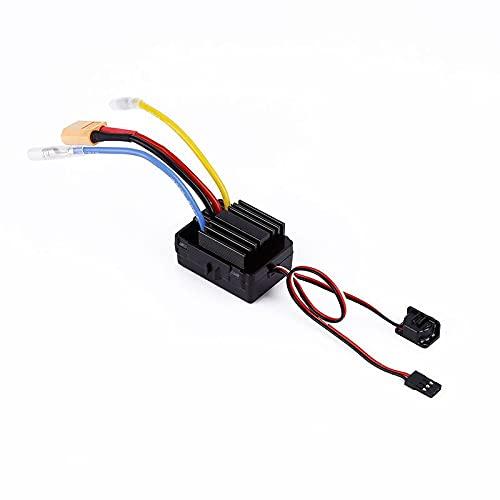 JIJIONG 1 Unidad 40A Cepillado ESC 2S-3S Controlador de Velocidad ESC bidireccional de Doble vía con disipador de Calor / enchufes XT60 / T para Barcos a reacción RC DIY ( Color : with biy Plug )