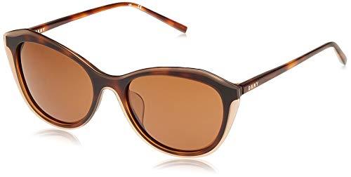 DKNY DK508S Gafas de sol, Brown/Brown Tortoise, 48 para Mujer