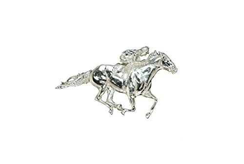 The Finishing Touch of Kentucky Thoroughbred Racer Brooch Pin Horse Lover Jewelry Gifts Mothers Day Birthday Womens Jewelry Kentuky Derby