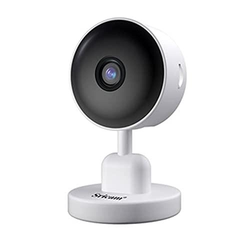 Telecamere di Sorveglianza Videosorveglianza Esterna Esterno WiFi Batteria Mini HD Senza Fili Telecamera IP 1080P,White