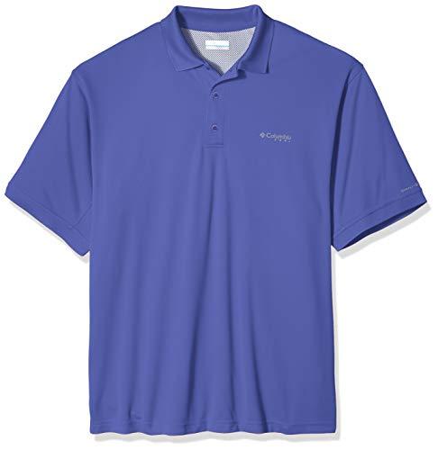 Columbia Men's Perfect Cast Polo Shirt, Purple Lotus, Small