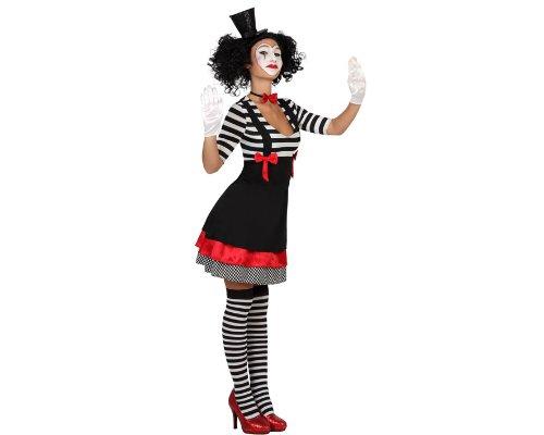ATOSA 22972 - Mime weibliches Kostüm, Größe XS-S, schwarz/weiß