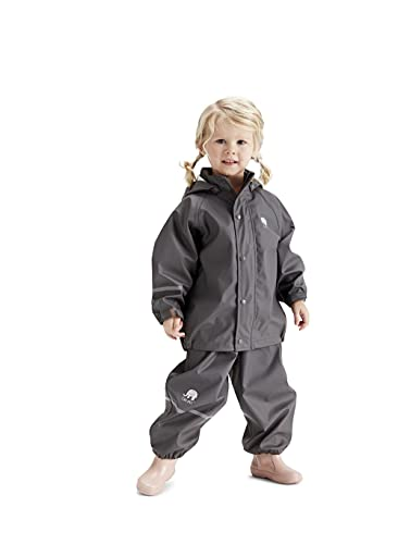 CeLaVi Jungen CeLaVi zweiteiliger Regenanzug in vielen Farben Regenjacke,,per pack Grau (Grey 174),(Herstellergröße:100)