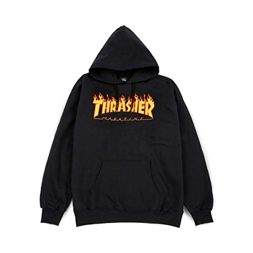 Thrasher Flame black Hooded Größe: S