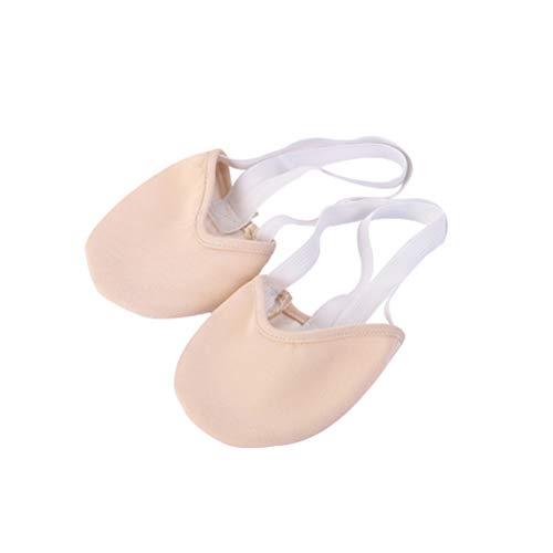 Artibetter 1 Paar Tanzschuhe-Ballett Gymnastik Kappen Ballettschläppchen Tanz Halbschuhe für Mädchen Kinder Sportgymnastik Ballett Jazz Tanz (Größe 27-29 Hautfarbe)
