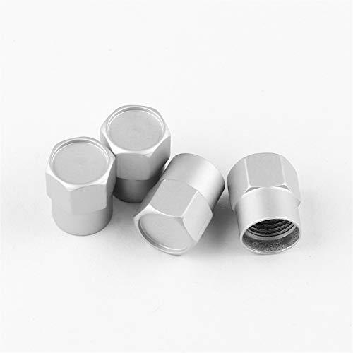Pegatinas de coche, STYLING DE COCHE 4 UNIDS Válvula de neumáticos de la rueda Tapa de las tapas para RS Car Accessories Kit de envoltura de automóviles ( Color Name : Silver , Style : For Mercedes )