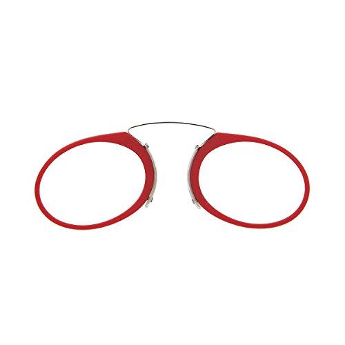DIDINSKY Lesebrille für Damen und Herren Transparent. Kompakte leichte randlose brillen. Brillengestelle für damen und herren. Lesehilfe Retro. Red +2.5 - ORSAY