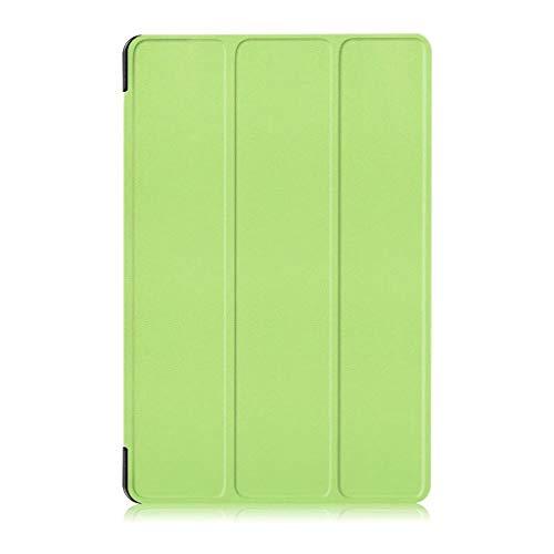 Handyhülle für Samsung Galaxy Tab A 10.1 (2016) SM-P580 /P585 Hülle Tasche Ledertasche Beutel SchutzHülle Cover Schale Handyhülle Trifold Stand Schutzhülle Case Cover (Grün)