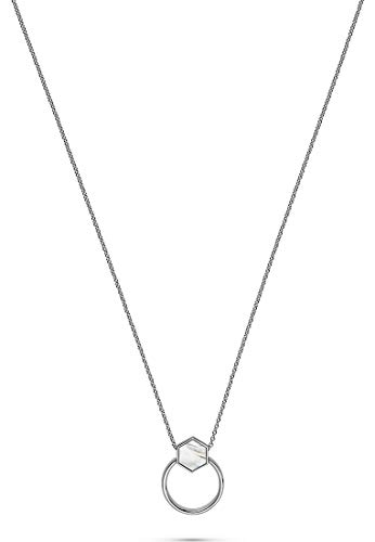 JETTE Silver Damen-Kette Lucky Charm 925er Silber 0 Perlmutt One Size Silber 32010383