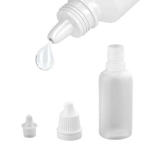 mooderf 15ml Leerer Weißer Kunststoff Quetschbare Plastikflasche Augentropfen Kontaktlinsenspeicher-Troppfe-Flaschen Augenflüssigkeit Leere Dropperflaschen Sind Umweltfreundlich Und Sicher