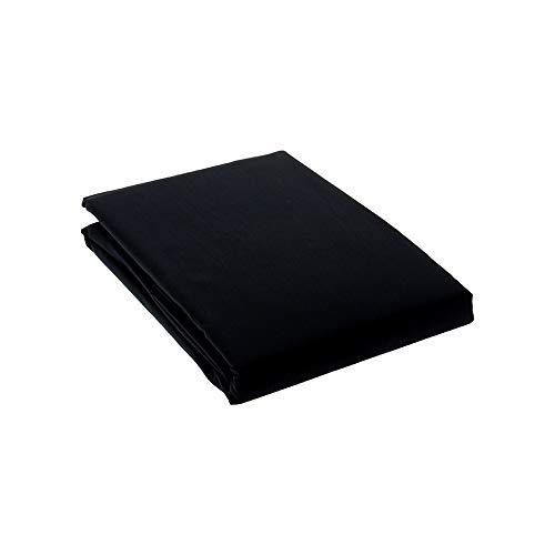 Drap House Housse de Couette Percale 140x200 Noir - Couleur: Noir