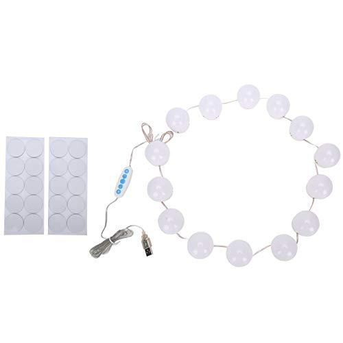 Luces de espejo de tocador, luces LED de espejo de tocador confiables y sin preocupaciones, amplia gama para pared de maquillaje