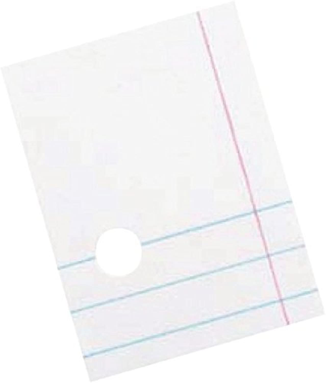 Pacon 038779 3Hole Punched Filler Paper with Margin, College Ruling, 81 2  x 11 , 16 lb, Bright White (Pack of 500) by Pacon