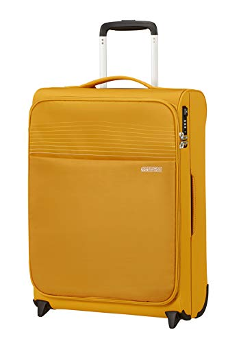 American Tourister Lite Ray Luggage- Carry-On Luggage, Upright S (55 cm - 43 L), Golden Yellow