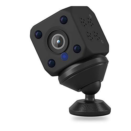 小型カメラ 1080P画質 隠しカメラ 赤外線機能付き スパイカメラ 広く互換性 録画 録音 防犯カメラ ブラック